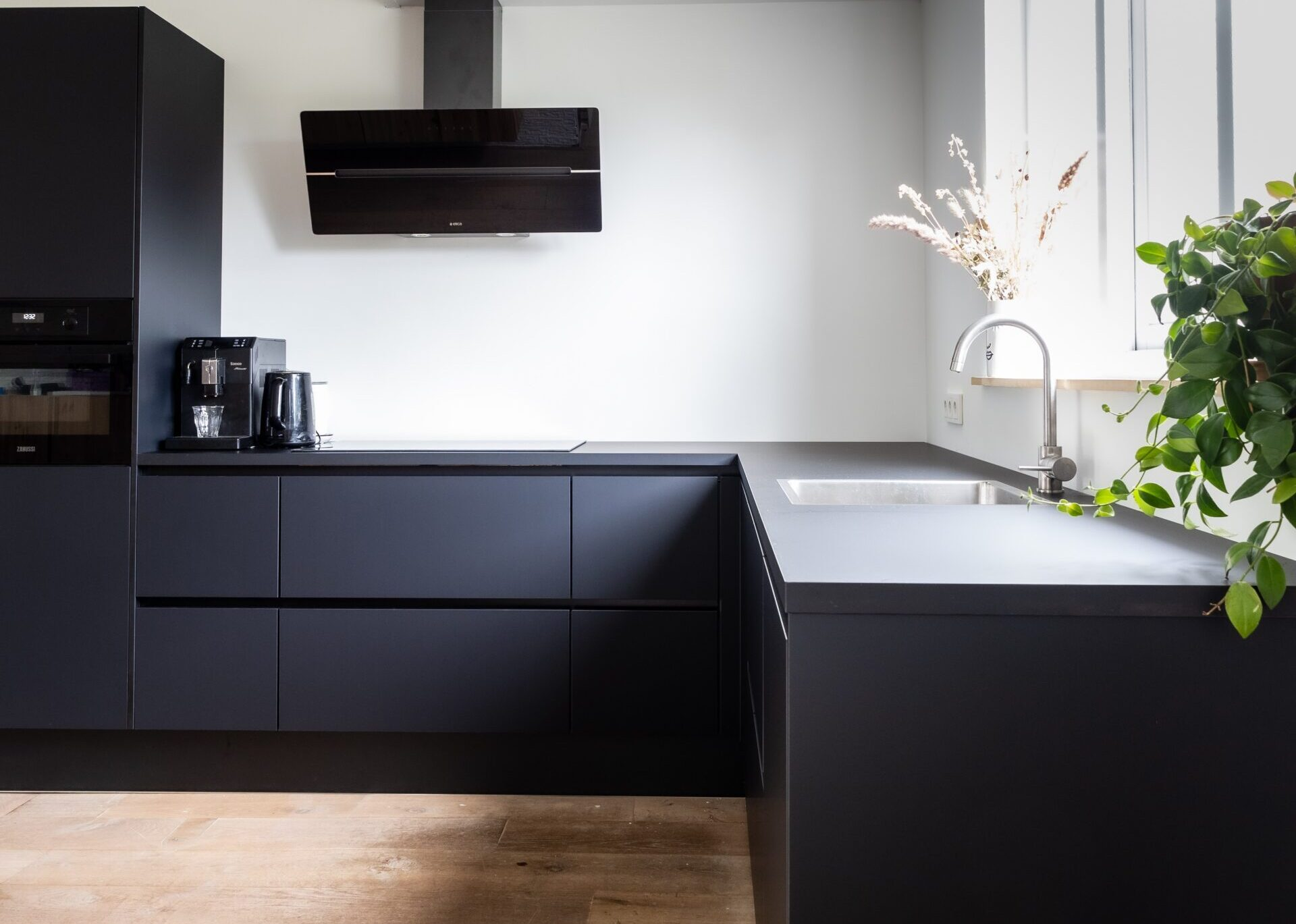 Matte lamination gives the ultimate modern looking kitchen cabinets